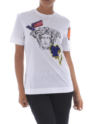 Versace: t-shirts online - Medusa head cotton T-shirt