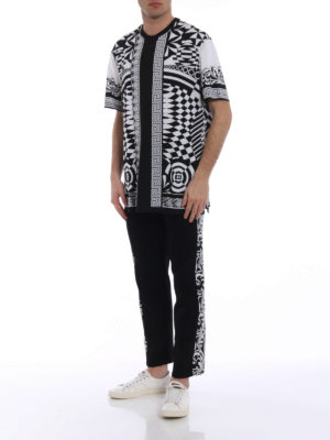 Versace: t-shirts online - Optillusion cotton T-shirt