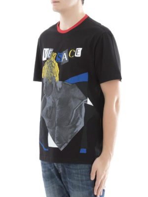 Versace: t-shirts online - Pop art printed cotton T-shirt