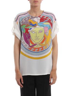 Versace: t-shirts online - Pop Medusa silk T-shirt