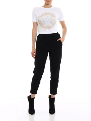 Versace: t-shirts online - Rhinestone Medusa Head Tee