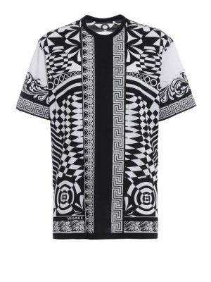 Versace: t-shirts - Optillusion cotton T-shirt