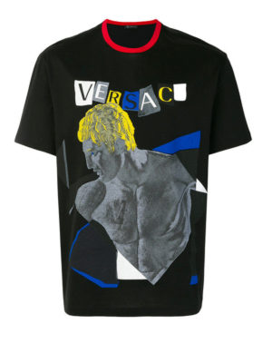 Versace: t-shirts - Pop art printed cotton T-shirt