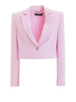 VERSACE: giacche sartoriali - Elegante blazer crop strutturato