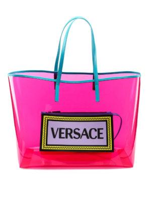 86f4892f09 Clutch in pelle con logo Vintage. 750.00 €. VERSACE: shopper - Shopper 90s  Vintage rosa