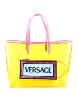 d339533f7b Borsa a tracolla in pelle con logo Vintage. 890.00 €. VERSACE: shopper -  Shopper 90s Vintage gialla