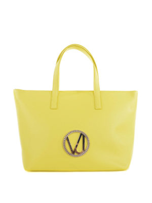 Versace: totes bags - Versace Jeans faux leather tote