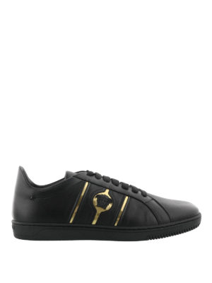 Versace: trainers - Martin leather sneakers
