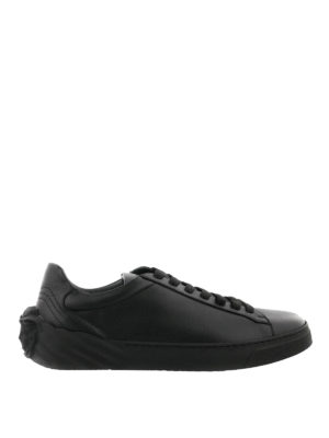 Versace: trainers - Medusa Head black leather sneakers