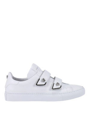 Versace: trainers - Medusa leather sneakers