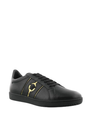 Versace: trainers online - Martin leather sneakers
