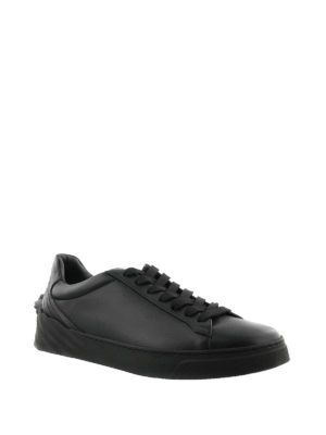 Versace: trainers online - Medusa Head black leather sneakers