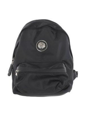 Versus Versace: backpacks - LION HEAD DETAIL NYLON BACKPACK