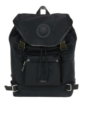 Versus Versace: backpacks - Lion Head detailed nylon backpack