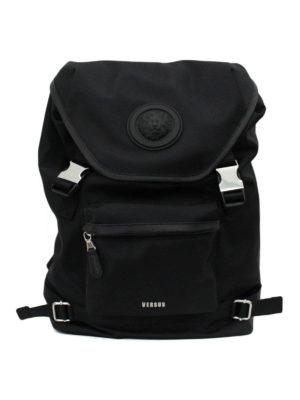 Versus Versace: backpacks - Lion Head nylon backpack