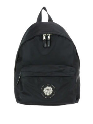 Versus Versace: backpacks - Lion Head nylon backpack