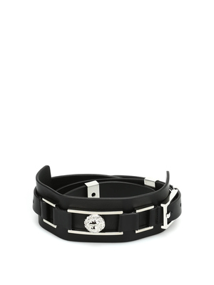 Versus Versace: belts - Logo buckle leather belt