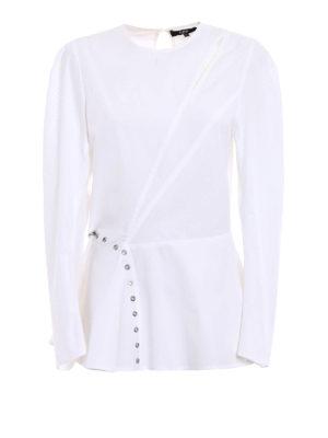 Versus Versace: blouses - Eyelet details asymmetrical blouse