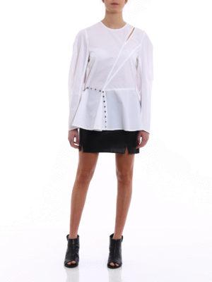 Versus Versace: blouses online - Eyelet details asymmetrical blouse