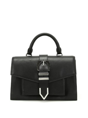 Versus Versace: bowling bags - Grand Canyon black leather bag