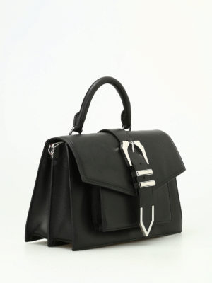 Versus Versace: bowling bags online - Grand Canyon black leather bag