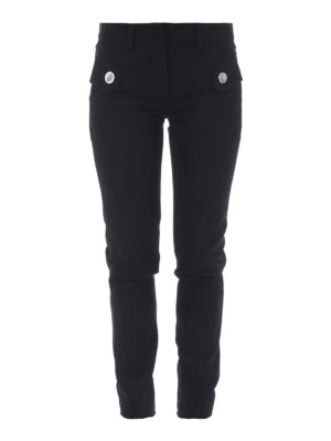 Versus Versace: casual trousers - Lion Head buttons cady trousers