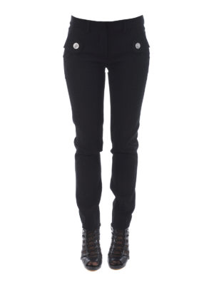 Versus Versace: casual trousers online - Lion Head buttons cady trousers