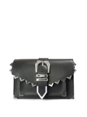 Versus Metal zig zag buckle black clutch Q9LDj5d