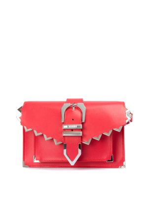 Versus Versace: pochette - Clutch rossa con zig zag e fibbia