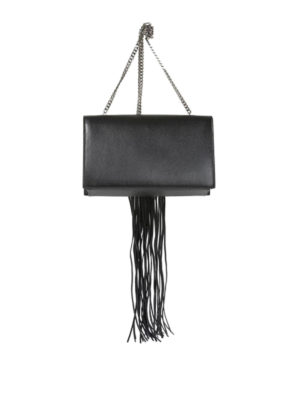 Versus Versace: clutches online - Fringe piercing leather clutch