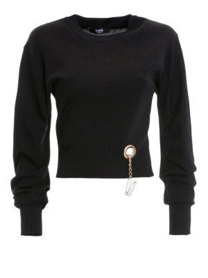 fabcc8dd6a Versus Versace: maglia collo rotondo - Pull a manica lunga con V pendente. Versus  Versace. V charm embellished sweater