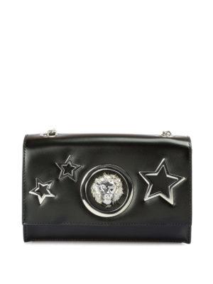 Versus Versace: borse a tracolla - Borsetta in pelle con Lion Head e stelle