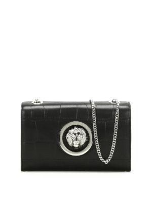 Versus Versace: cross body bags - Lion Head croco print leather bag