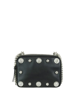 Versus Versace: cross body bags - Lion Head studded leather bag