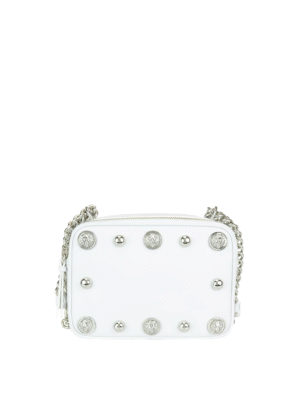 Versus Versace: cross body bags - Lion Head studded leather crossbody