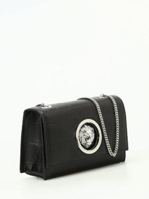 Versus Versace: cross body bags online - Lion Head croco print leather bag