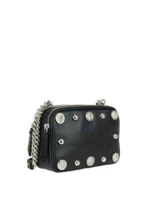 Versus Versace: cross body bags online - Lion Head studded leather bag