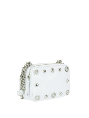 Versus Versace: cross body bags online - Lion Head studded leather crossbody