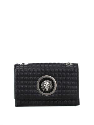 Versus Versace: borse a tracolla - Borsetta in pelle trapuntata con Lion Head