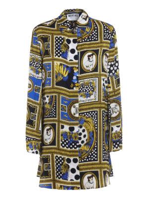 09cea8c98d Versus Versace: abiti al ginocchio - Abito chemisier in raso fantasia