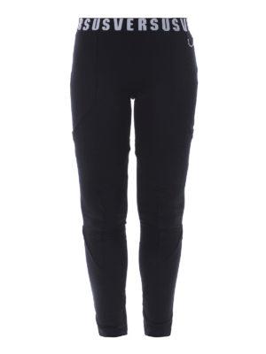 Versus Versace: leggings - Logo elastic waistband leggings