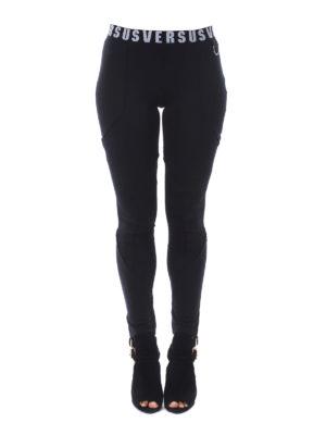 Versus Versace: leggings online - Logo elastic waistband leggings
