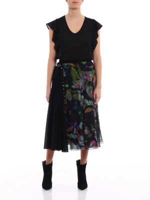 Versus Versace: Long skirts online - Flared crepe layered skirt