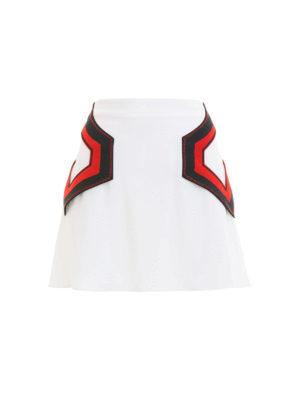 Versus Versace: minigonne - Mini gonna con inserti geometrici