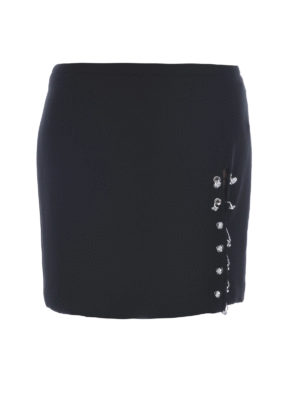 Versus Versace: mini skirts - LION PIERCING DETAILED CADY SKIRT