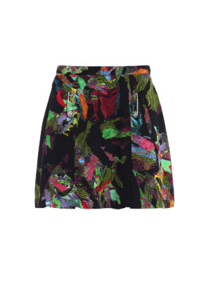 Versus Versace: mini skirts - Pin detail pleated mini skirt