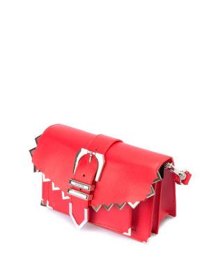 Versus Versace: pochette online - Clutch rossa con zig zag e fibbia