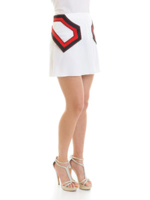 Versus Versace: minigonne online - Mini gonna con inserti geometrici