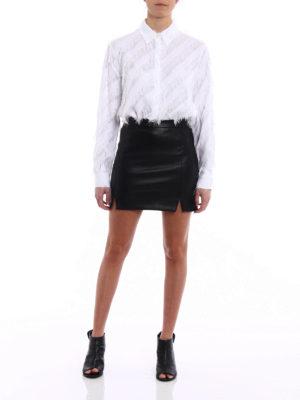 Versus Versace: shirts online - Tonal oblique fringes crepe shirt
