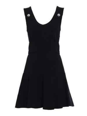 Versus Versace: short dresses - Ruffled sleeveless jersey dress
